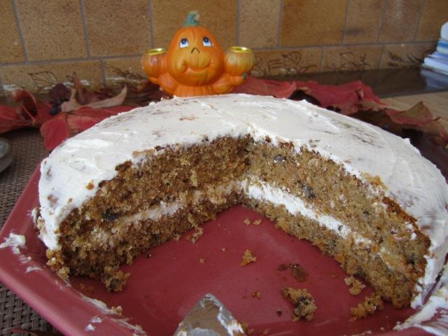 Carrot cake, citrouille, Halloween, Challenge Halloween, Goûter d'Halloween