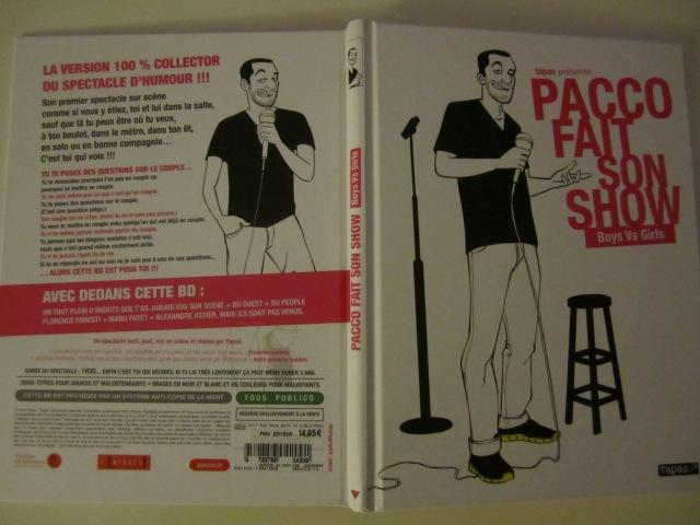 Pacco fait son show Boys Vs Girls, Pacco, Tapas :-*, Margaux Motin, Une semaine sur deux, Maé, Very Bad Twinz, BD, Humour