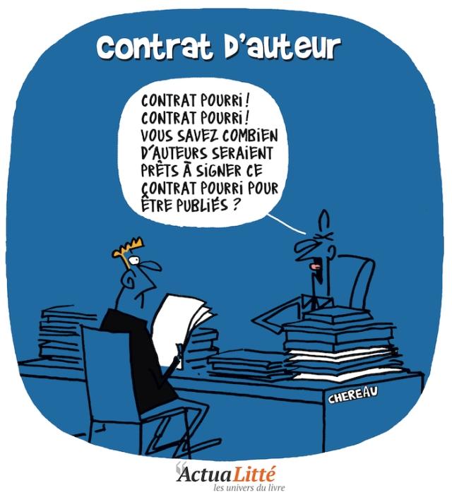 Le bonheur d'être auteur ! , Chereau, Chroniques Littéraires, Humour, BD